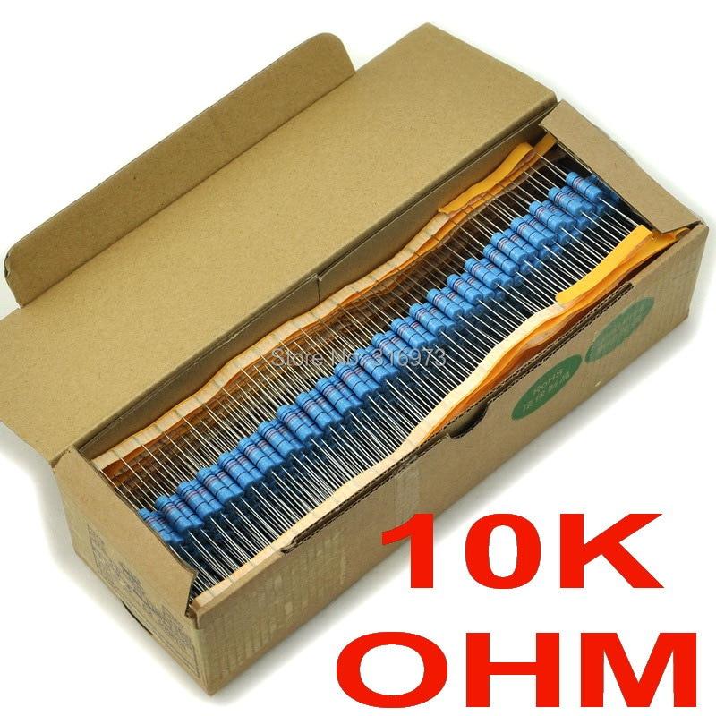 (500 шт./лот) 10 К Ом 1% Металл Плёнки Резисторы 3 Вт, 3 Вт