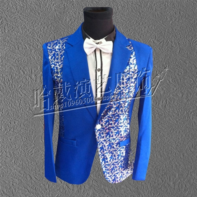 S-5XL!!!   2018  The new sequins costumes Evening male singer performance stage The singer's clothing  The costumes of big yards