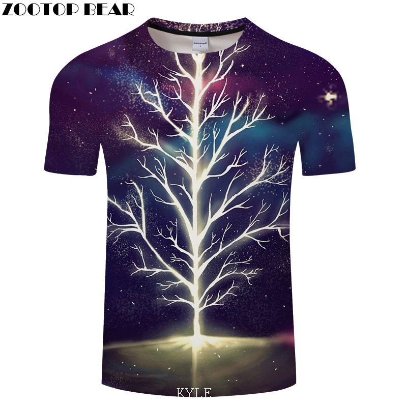 Dream Tree 3D t shirt Men tshirt Summer T-Shirt Casual Tops Short Sleeve Tees Print Groot Camiseta Harajuku DropShip ZOOTOPBEAR