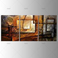 Unframed 3 Panel Handpainted Abstract Modern Wall Art Picture Home Decor Oil Painting On Canvas For