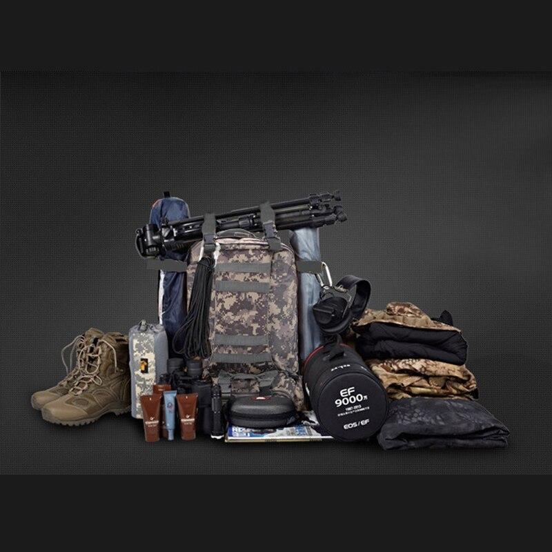 Hommes imperméable voyage alpinisme tactique Camouflage sac à dos Molle escalade randonnée route sac à dos souple combinaison ensemble - 3