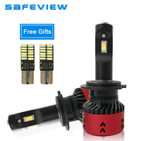 SAFEVIEW H7 Led Car Headlights Bulbs H4 Hi Lo Beam H8 H9 H11 9005 Hb3 9006