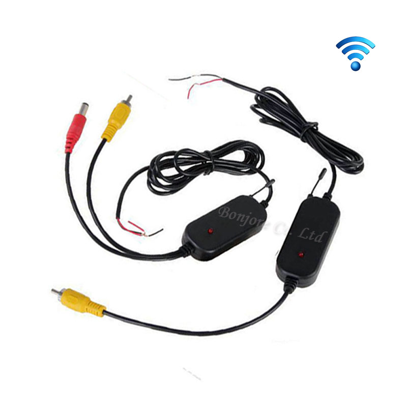 Parking System 2.4G Wireless transmitter and receiver for 12v Car Rear View Camera and TFT LCD Monitor and Auto DVD Promotion recruitment and promotion