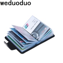Brand Card Holder Wallet Pu Leather Credit Card Wallet Men And Women New High Quality Card Wallet Fashion Business Travel Card travel slim wallet business card