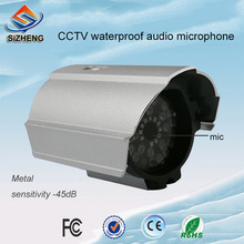 SIZHENG SIZ-190 Waterproof cctv microphone -45dB omnidirectional voice pick up device for audio surveillance system