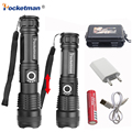 Super Bright LED Torcia Elettrica Xhp50.2 30000LM Potente Torcia USB Zoom HA CONDOTTO LA Torcia XHP50 18650 o 26650 Batteria Ricaricabile