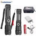 Super brillante Linterna LED Xhp50.2 30000LM poderosa Linterna USB Zoom Linterna LED XHP50 18650 o 26650 batería recargable