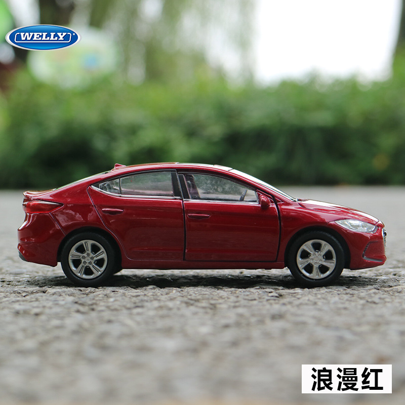 Free Shipping 1:36 For Hyundai Elantra Alloy Car Toy Model With Pull Back Function Original Box Simulation Model Car Toy For Kid