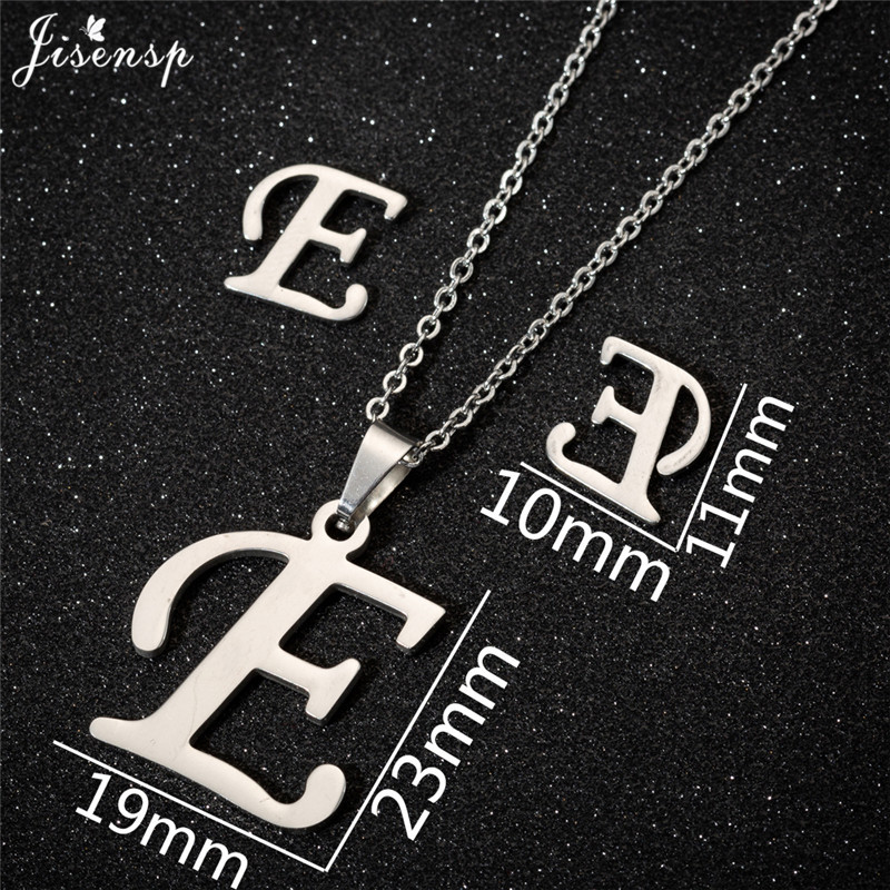 Jisensp Personalized A-Z Letter Alphabet Pendant Necklace Gold Chain Initial Necklaces Charms for Women Jewelry Dropshipping 10
