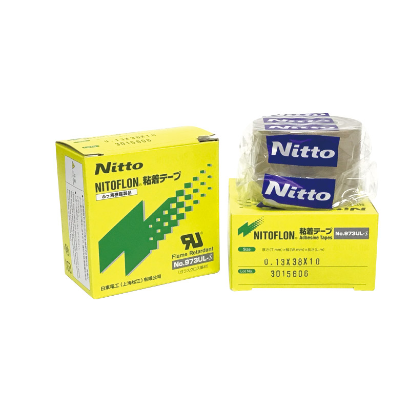 973UL-S T0.13mm*W25/38/50mm*L10m NITTO DENKO PTFE Resin Product NITOFLON Adhesive Tapes
