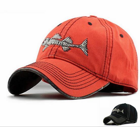 2016 Novo de alta qualidade snapback bonés bordados peixe gorros bonés de beisebol moda chapéus de golfe esportes ao ar livre tampas de chapéus de sol