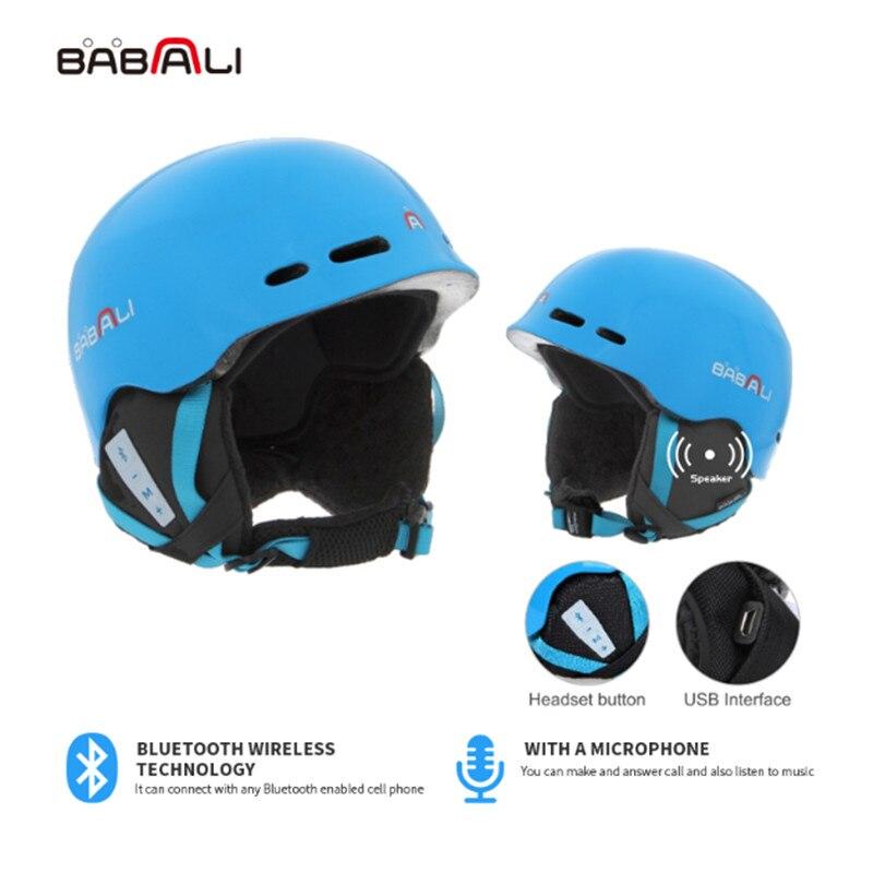 BABALI 2019 Snowboard Casque de Musique Intégré Bluetooth Extérieure casque de ski Planche À Roulettes smart bluetooth Helme casco vtt ni un A4