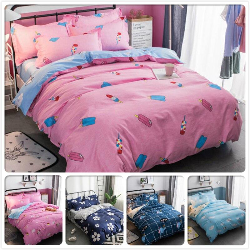 Power Source 4/5/6/7 Feet 3/4 Pcs Bedding Set 150x200 180x220 200x230 220x240 Bed Linen Single Twin Full Queen King Size Duvet Cover Bedlinen