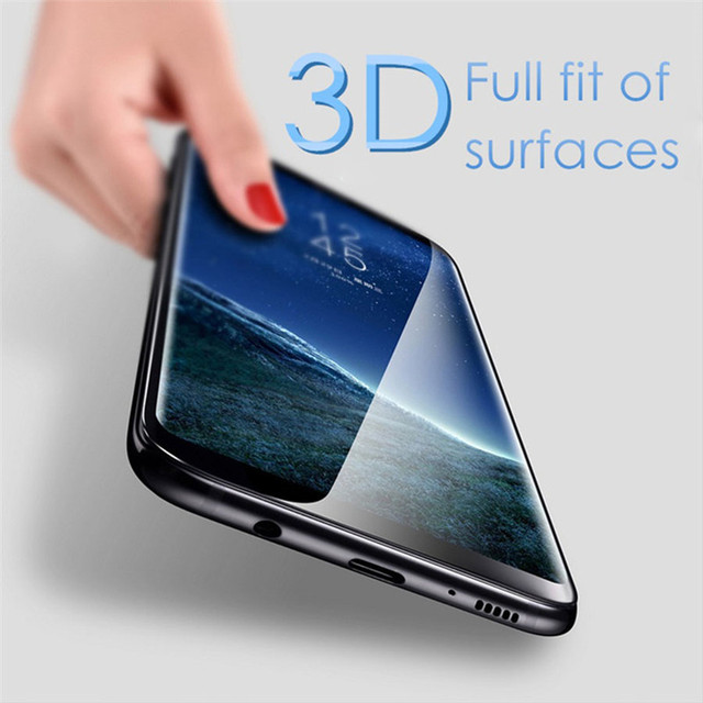 5109ddfb1 Curvo 3D Cobertura Completa Protetor De Vidro Temperado Para Samsung Galaxy  S9 + Plus Tela Película