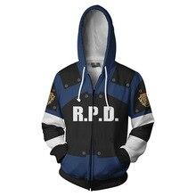 Fashion Hot sales Resident Evil Hoodies 3D Print Men Hoodie Hoody Man Hip Hop Casual Coat Sweatshirts with Zipper Plus Size 5XL