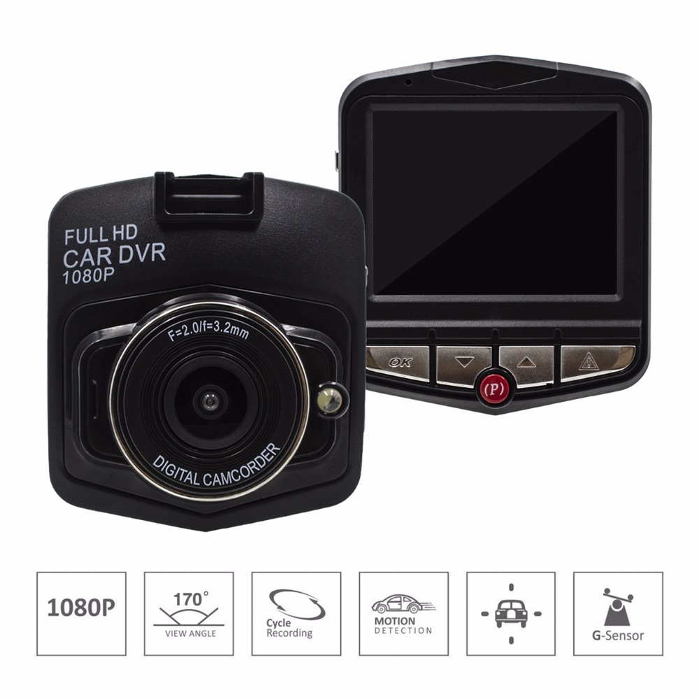 2018 Auto 2.4 Full HD 1080P LCD Night Vision G-sensor Video Registrator Dash Cam Cycle Recording Mini Car DVR Camera Recorder