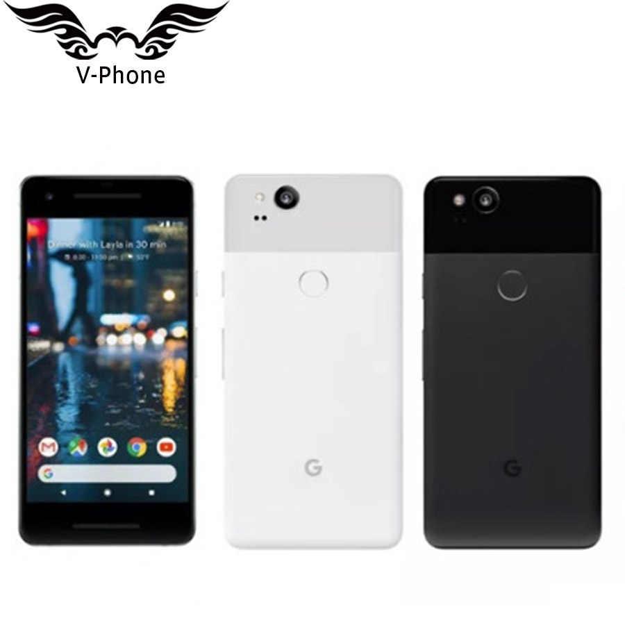 """Marca nuevo 5 """"versión UE Google Pixel 2 128GB teléfono móvil Snapdragon 835 Octa Core 4GB 64GB huella dactilar 4G teléfono inteligente Original"""