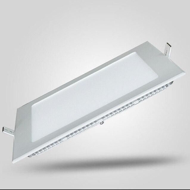 1pc LED panneau lumineux à intensité variable 3 W/4 W/6 W/9 W/12 W/15 W/25 W carré encastré plafonnier à LED carré d'intensité réglable + pilote