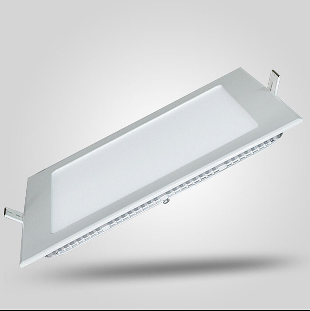 1pc LED regulable luz del Panel 3 W/4 W/6 W/9 W/12 W/15 W/25 W cuadrado empotrado luz de techo led regulable de luz + conductor