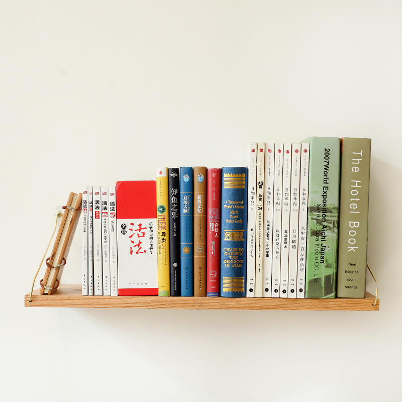 Collalily Nordic Wall Mounted Shelf Bookcase Bookshelf Holder Wood Metal Modern Design Hanging Racks For Corridor Rails Bookrack Em Ganchos E Trilhos De