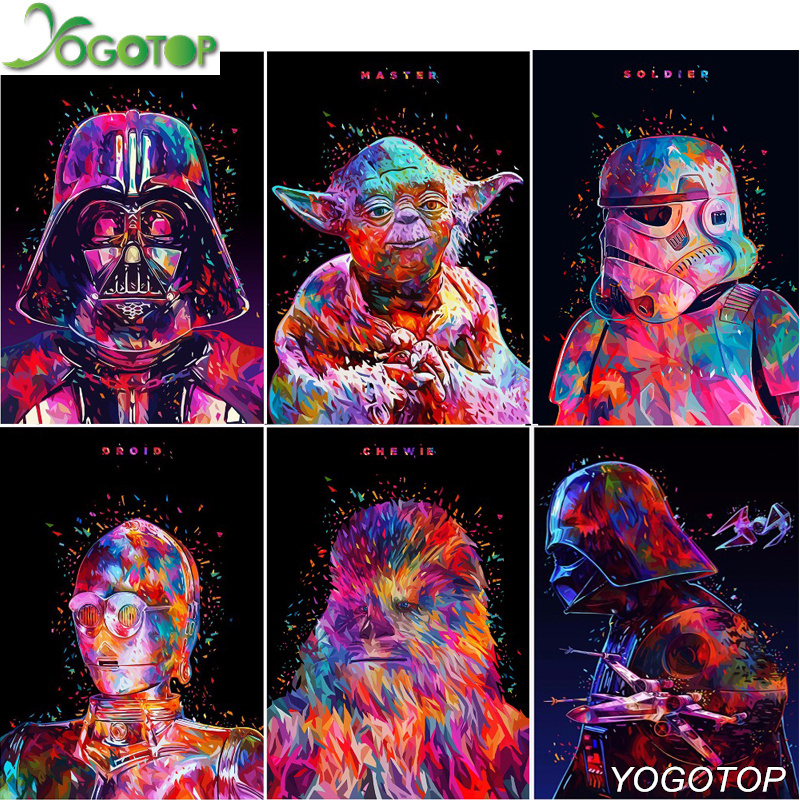 YOGOTOP Needlework DIY 5D Diamond Painting Cross Stitch Kits Star Wars Full Mosaic Diamond Embroidery Home Decor CV465