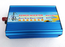 цена на Pure sine wave inverter 1500W 12V/24V/36V/48V DC to 110V/220V AC 50HZ/60HZ Solar Inverter