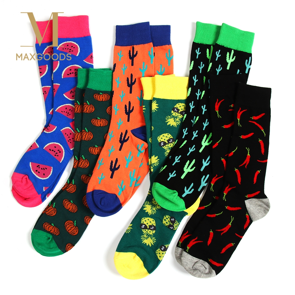 1 Pair Happy Funny Men Socks Combed Cotton High Quality Wedding Gift Womens Teen Sokken Cool Dress Crew Sock Choice Materials Underwear & Sleepwears