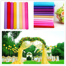 Cheap Sale! High Quality 75cm Wide Sheer Crystal Organza Fabric For Wedding Decoration 18 Colors Choose 10m/lot Free Shipping