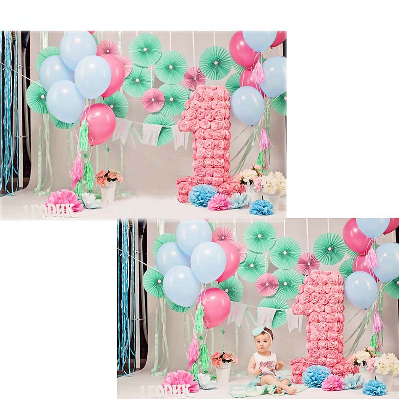 Tr Baby 1st Birthday Backdrop For Photography Colorful