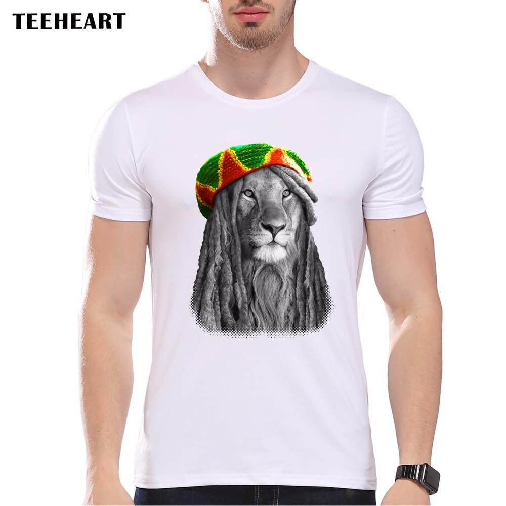 New 2017 Summer Animal Special Fashion Lion <font><b>King</b></font> T Shirt Men's <font><b>High</b></font> Quality <font><b>KING</b></font> RAGGAE Tops Male Hipster Tees pa765