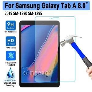 Image 1 - 10 ชิ้น/ล็อตกระจกนิรภัยสำหรับ Samsung Galaxy Tab 8 2019 8.0 SM T290 SM T295 T290 T295 Tablet Protector ป้องกันฟิล์ม