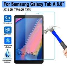 10 pz/lotto di Vetro Temperato Per Samsung Galaxy Tab UN 8 2019 8.0 SM T290 SM T295 T290 T295 Tablet Protezione Dello Schermo di Protezione pellicola