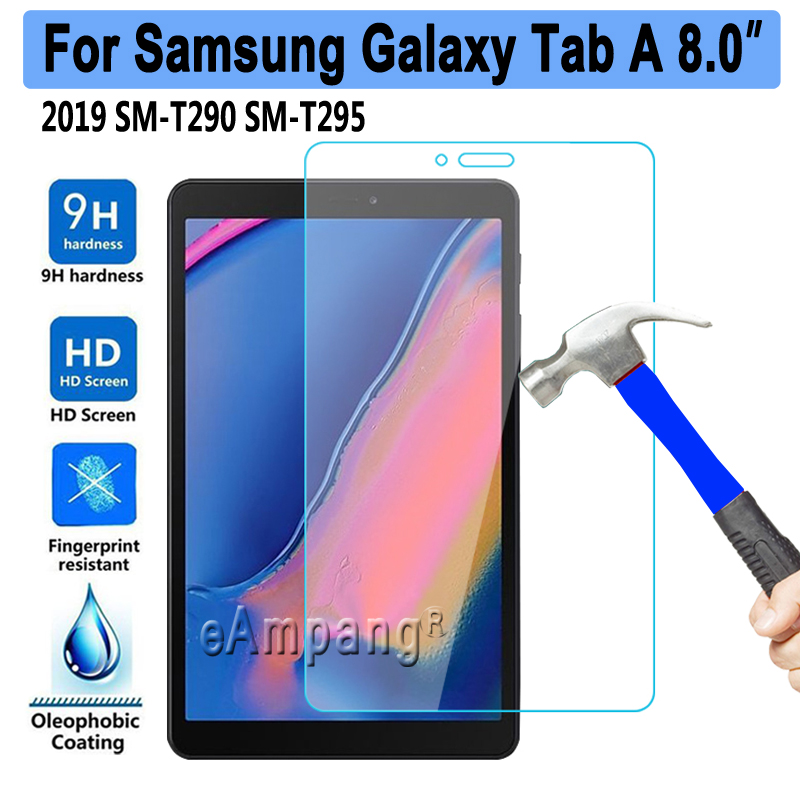 10pcs/lot Tempered Glass For Samsung Galaxy Tab A 8 2019 8.0 SM-T290 SM-T295 T290 T295 Screen Protector Tablet Protective Film