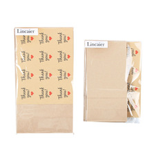 Lincaier Wedding Favors And Gifts Kraft Paper Bag with Thank You Stickers