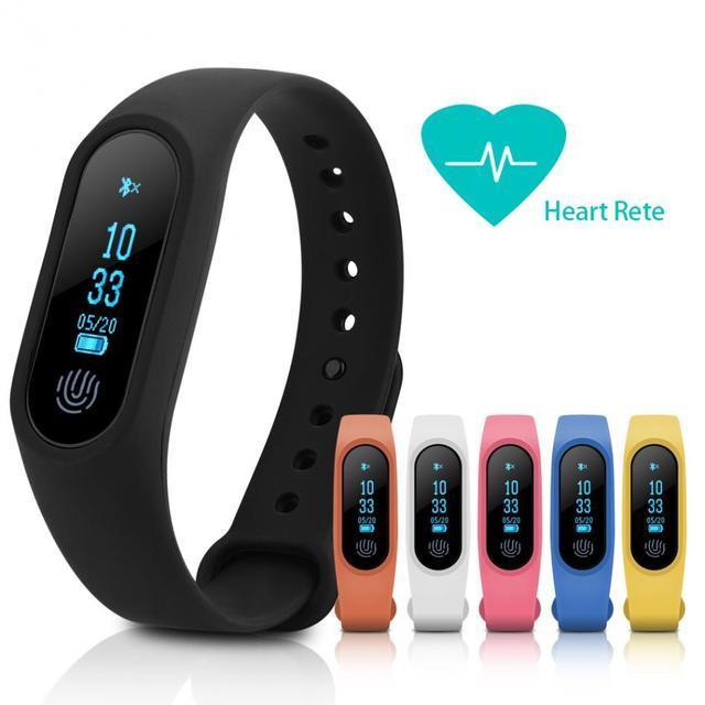 8490908c3 M2 Mais Inteligente Pulseira Relógio Pulseira de Relógio Monitor De  Freqüência Cardíaca Do Bluetooth Anti-