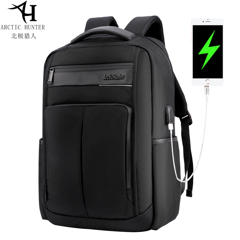 Arctic Hunter Fashionable Mens Laptop Backpack USB Charging Casual Style Waterproof Bag Multi-function Backpacks B00121