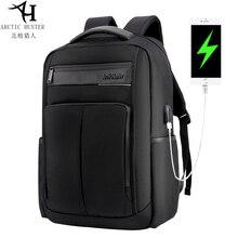 Arctic Hunter Fashionable Mens Laptop Backpack USB Charging Casual Style Waterproof Bag Multi-function Backpacks B00121