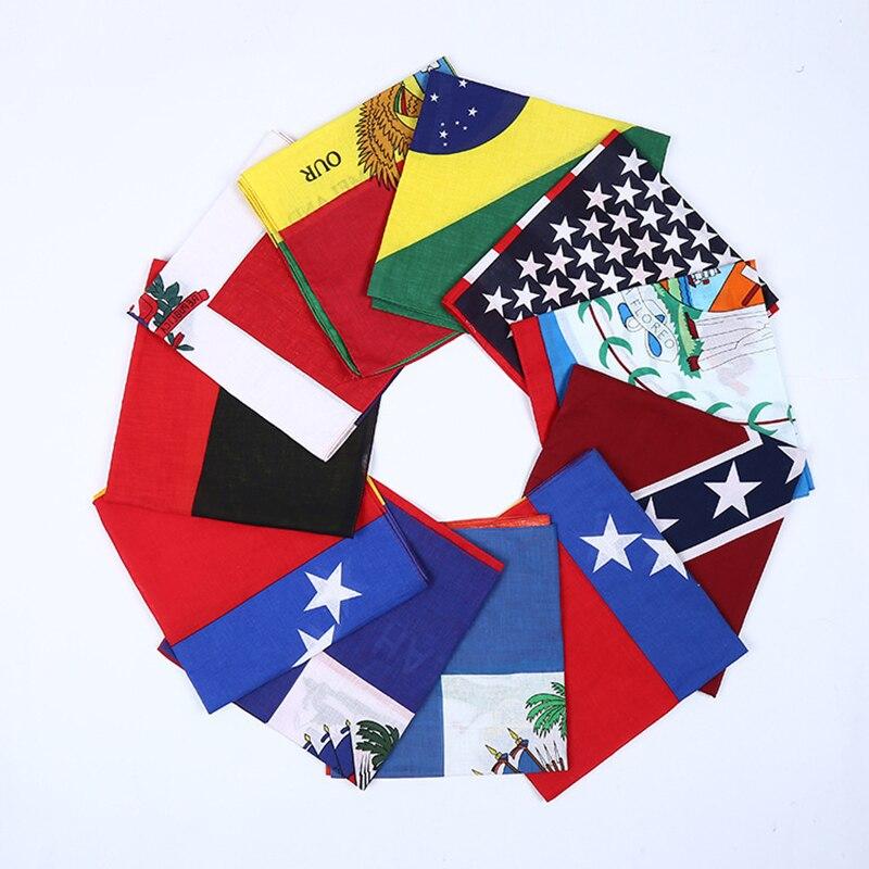 22X22 Inch Cotton USA flag Bandanas Cowboy Bandana Party Scarf Headband Handkerchiefs Hiphop Dance 12 pcs/lot