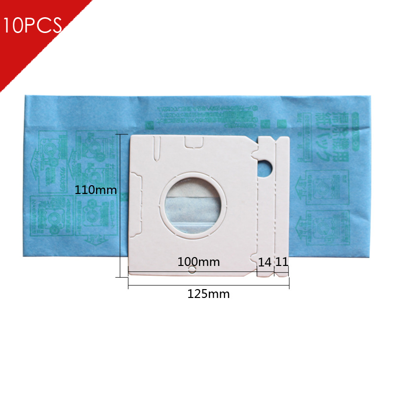 10pcs/lot Universal Hepa Pager Microfiber dust Bags  For  Philips Electrolux LG Haier Samsung etc Vacuums Cleaner Parts electrolux es 53 4 bags 1mf
