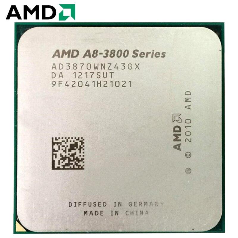 AMD A8-Series A8 3870 A8-3870K A8 3870K 3.0 GHz Quad-Core CPU Processor AMD Radeon APU A8 AD3870WNZ43GX Socket FM1