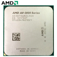 AMD A8 Series A8 3870 A8 3870K A8 3870K 3.0 GHz Quad Core CPU Processor AMD Radeon APU A8 AD3870WNZ43GX Socket FM1