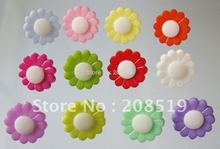 NB0112 fashion nylon buttons 15mm 300pcs mixed colors flower type shank combined wholesale