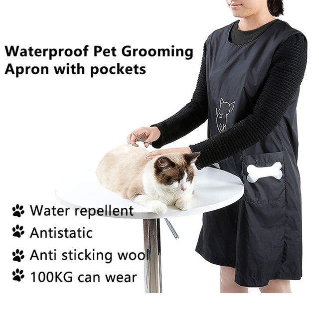 Nylon Grooming Apron with Pockets 3