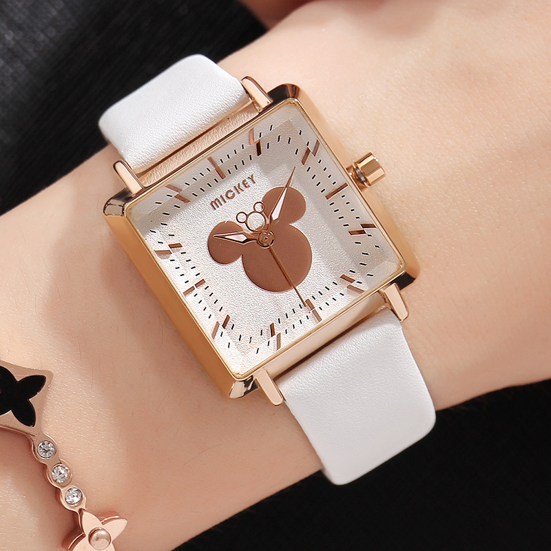 Disney Cartoon Children Watches Girls Quartz Watch Top Brand Frozen Pu Leather Watchband Fashion Girls Frozen Watch Dropshipping In Short Supply Watches