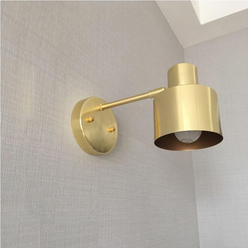GETOP nordique Bronze métal applique moderne Simple toilette salle de bain miroir lampe frontale LED luminaire