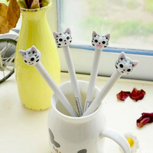 12 pcs/ box New Arrival 0.5mm Linda Cheese Cat Gel Ink Pen Stationery Gift Promotional School & Office Stationery Supply