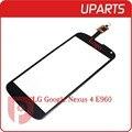 Original para lg google nexus 4 e960 pantalla táctil digitalizador outer glass sensor negro blanco del envío libre + código de seguimiento