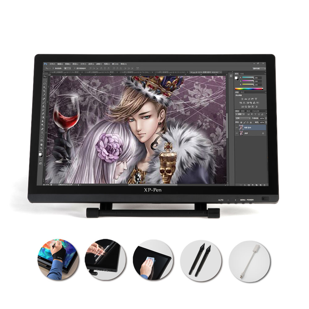 XP Pen 21 5 HD IPS Graphic font b Tablet b font Interactive Monitor Full View