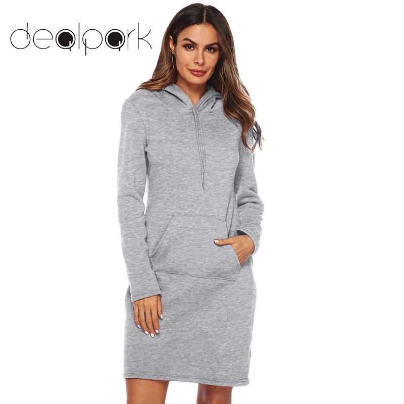 2019 Autumn Long Sweatshirts Women Hoodies Dress Hooded Long Sleeve Hoody Pullover Female Outwear Oversized Hoodie Tops Vestidos