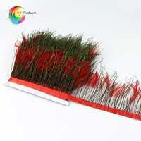 NEW! Beautiful Natural Rare Pheasant with peacock feather trim Height 4 6inch DIY Jewelry Costume design Accessories feathers